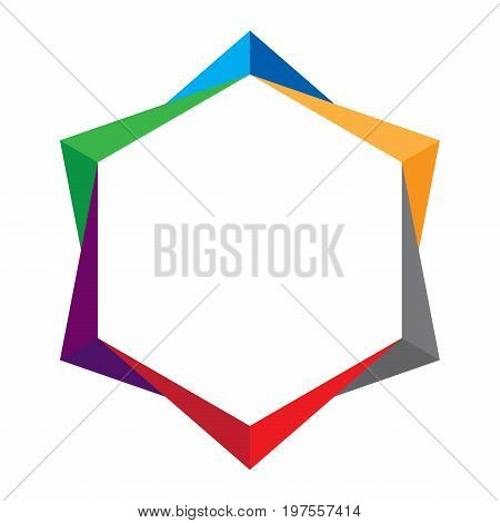 Colorful Abstract Shape On White Background. Abstract Shape.