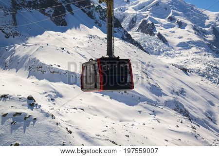 Chamonix France: Cable Car from Chamonix to the summit of the Aiguille du Midi. poster