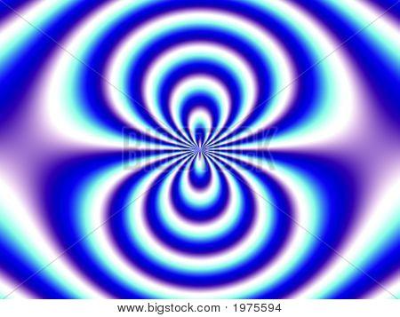 Optical Illusion Blue White Double Funnel