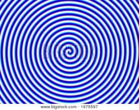 Optical Illusion Hypno Blue White Spiral Single