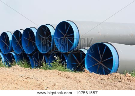 The large water pipe domestic in Thailand.