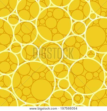 Retro yellow square seamless circle background pattern