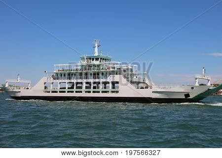 Great Ferry Boat For The Carriage Of Cars