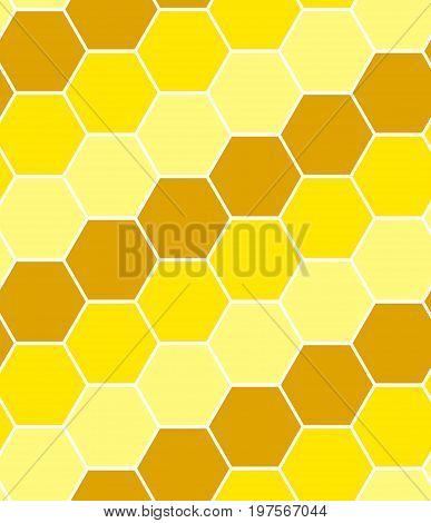 Hexagon tiles. Seamless square vector background pattern