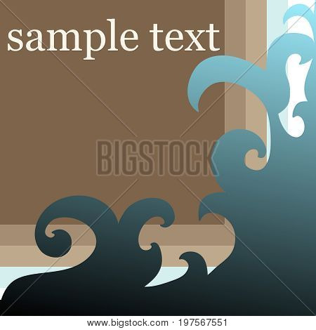 Original floral ornament card with sample text