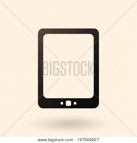 Vector Black Silhouette Icon - Tablet Pc