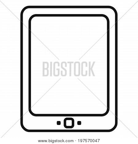 Vector Black Outline Icon - Tablet Pc