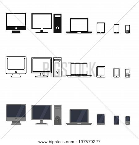 Vector Set Of Device Icons.