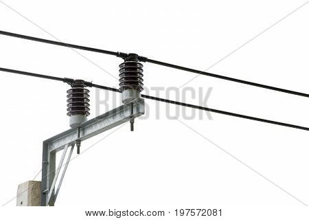 High voltage transformer circuit breaker isolated with a electrical insulation.