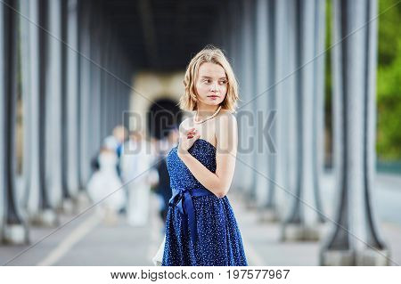 Young Woman In Paris Outdoors