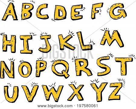 Isolated Shiny English Letters