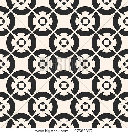 Ornamental seamless pattern, vector geometric floral texture, monochrome ornament, delicate lattice. Abstract repeat background in oriental style. Decorative design element for prints, textile, fabric. Arabesque pattern, islamic pattern.