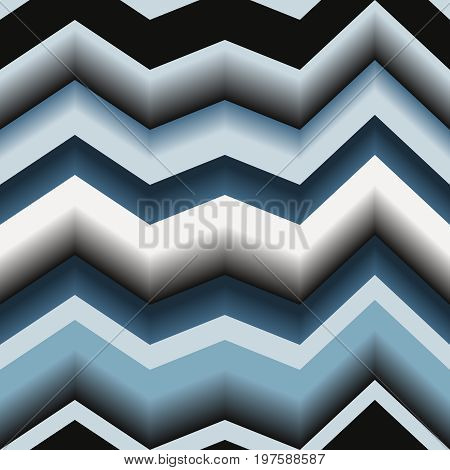 Seamless texture with art 3d zigzag line
