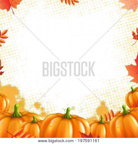 Orange Pumpkins Frame