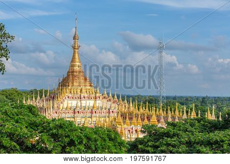 Beautiful Buddhist Pagoda, Thanboddhay Phaya in Monywa, Myanmar