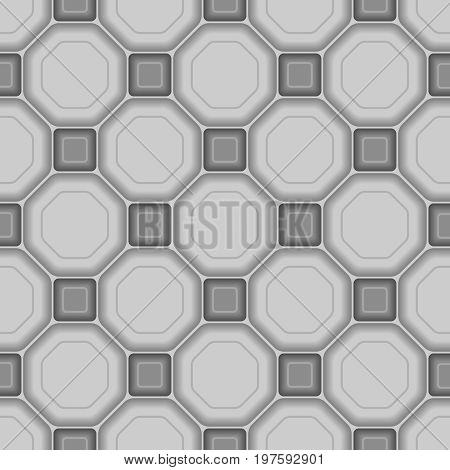 Seamless vector square background pattern with tiles