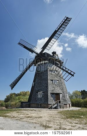 Turret windmill in the village of Benz on the island of Usedom Germany