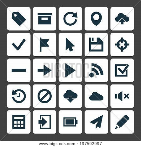 Interface Icons Set. Collection Of Charge, Base, Check And Other Elements
