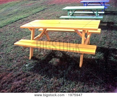 Colorful Picnic Tables 01 Wc Copy