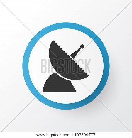 Premium Quality Isolated Satellite Element In Trendy Style.  Communication Antenna Icon Symbol.