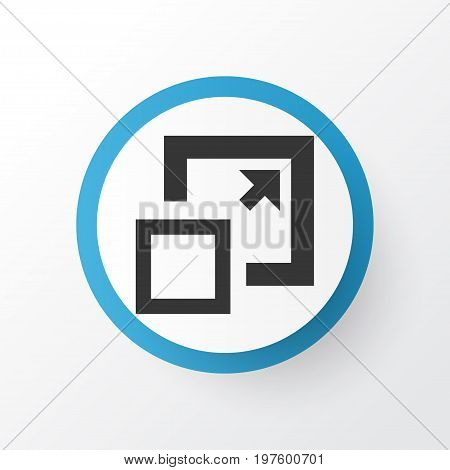 Premium Quality Isolated Maximize Element In Trendy Style.  Enlarge Icon Symbol.