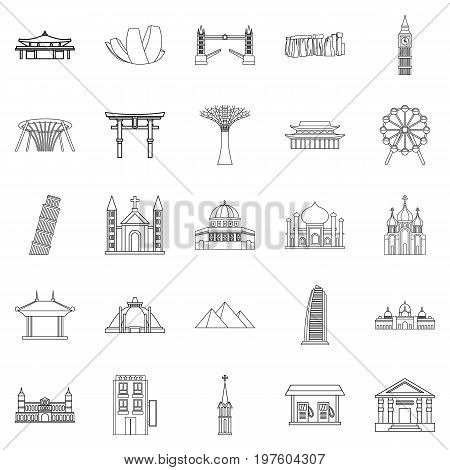 Formation icons set. Outline set of 25 formation vector icons for web isolated on white background