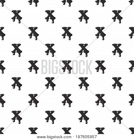 X letter isolated on white background. Black liquid oil X letter vector illustration