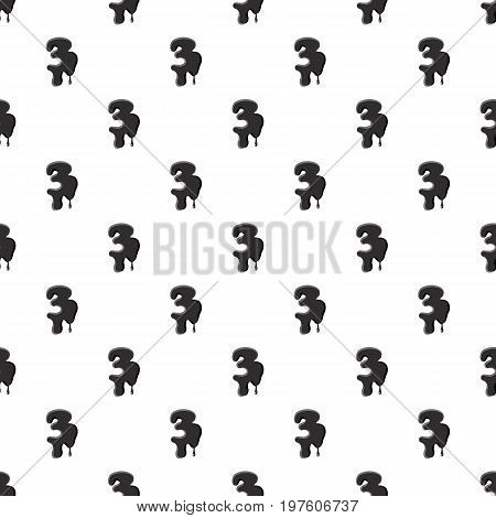 Number three 3 isolated on white background. Black liquid oil three 3 number vector illustration