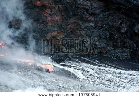 Kilauea Volcano Lava Flow, Hawaii