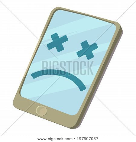 Broken smartphone icon. cartoon illustration of broken smatphone vector icon for web