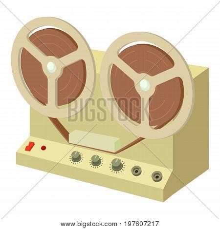 Sound recorder icon. cartoon illustration of sound recorder vector icon for web