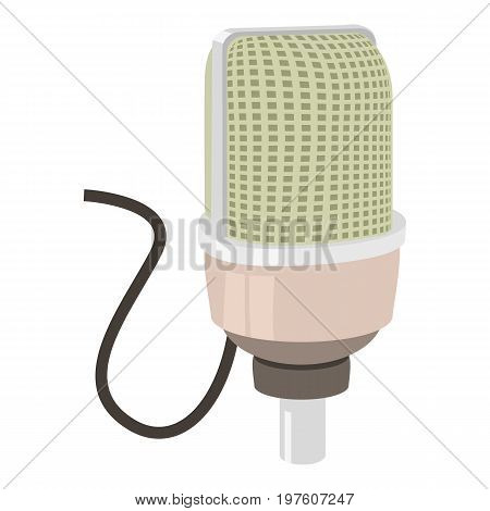 Retro microphone icon. cartoon illustration of retro microphone vector icon for web