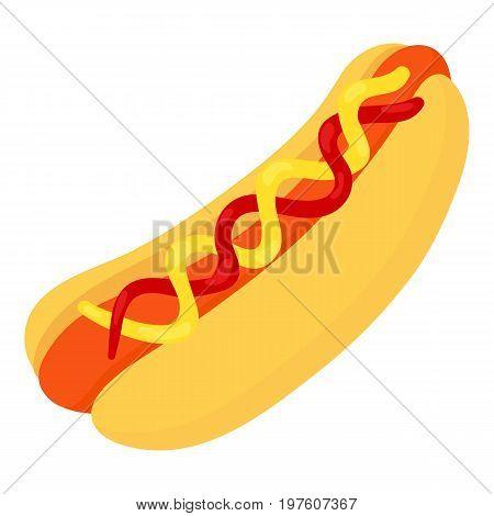 Hotdog icon. cartoon illustration of hotdog vector icon for web