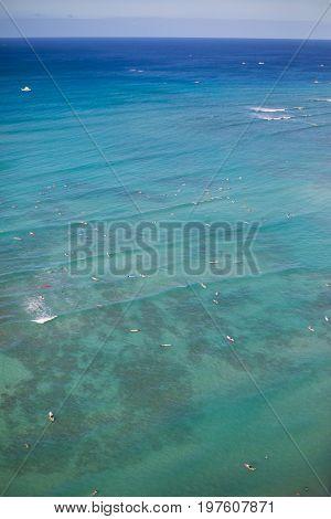 Honolulu, Hawaii. Skyline of Honolulu, Waikiki Beach