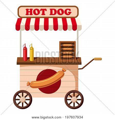 Hot dog mobile snack icon. cartoon illustration of hot dog mobile snack vector icon for web