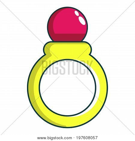 Princess ring icon. Cartoon illustration of princess ring vector icon for web design
