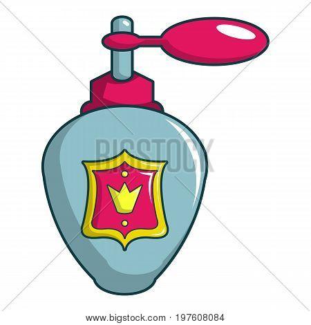 Royal perfume icon. Cartoon illustration of royal perfume vector icon for web design