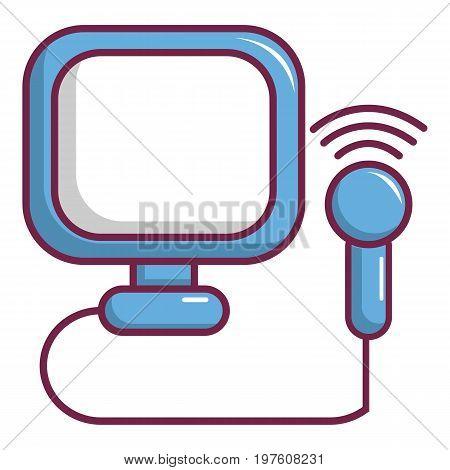 Pregnant screening icon. Cartoon illustration of pregnant screening vector icon for web design