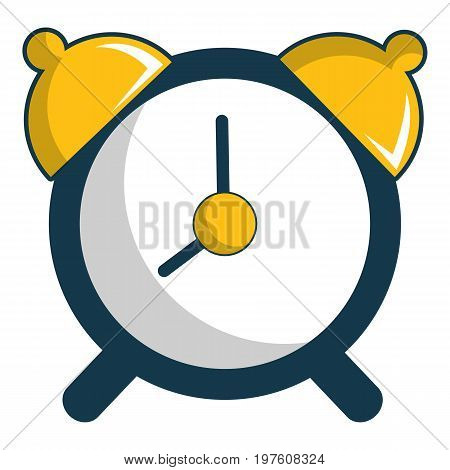 Alarm clock icon. Cartoon illustration of alarm clock vector icon for web design