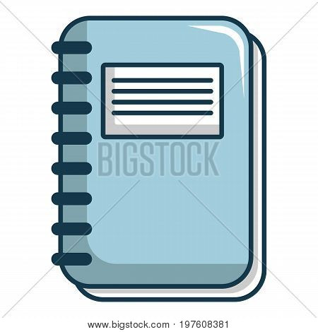 Notebook icon. Cartoon illustration of notebook vector icon for web design