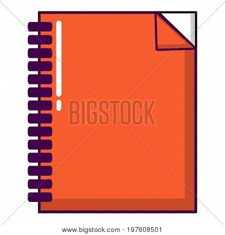 Red notebook icon. Cartoon illustration of red notebook vector icon for web design