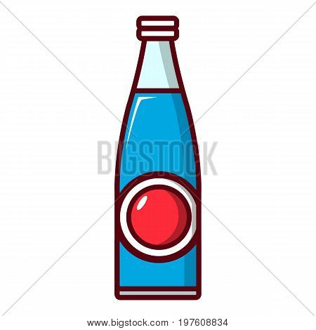 Soda bottle icon. Cartoon illustration of soda bottle vector icon for web design