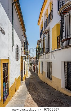 Cordoba, Spain - June 20 : The Empty Streets Of Cordoba On June 20, 2017.