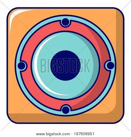 Speaker icon. Cartoon illustration of speaker vector icon for web design