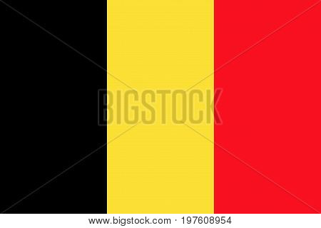 Flag design. Belgian flag on the white background isolated flat layout for your designs. Vector illustration.