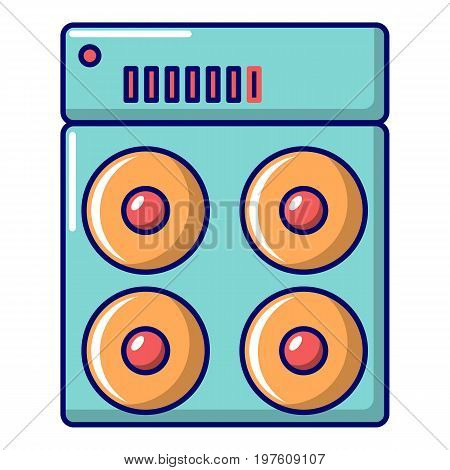 Speaker box icon. Cartoon illustration of speaker box vector icon for web design