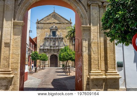 Compas De San Francisco, A Small Square And Church In Cordoba, Spain