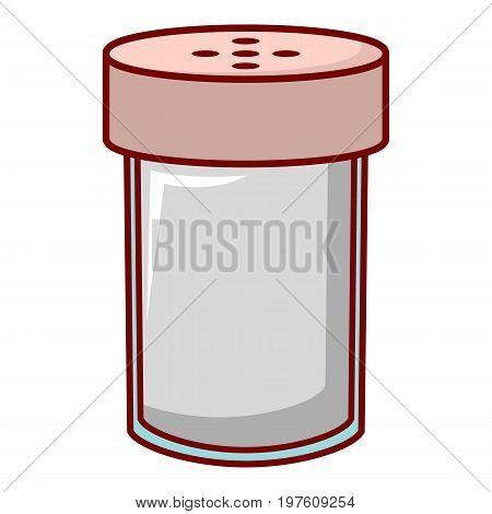 Salt shaker icon. Cartoon illustration of salt shaker vector icon for web design