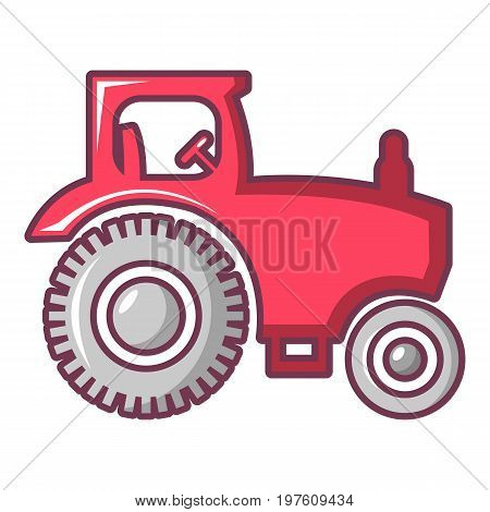 Tractor icon. Cartoon illustration of tractor vector icon for web design
