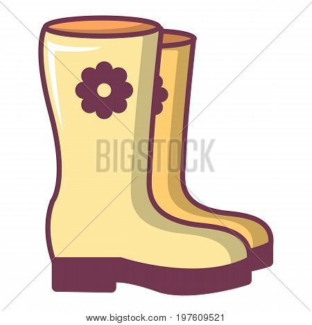 Boots icon. Cartoon illustration of boots vector icon for web design